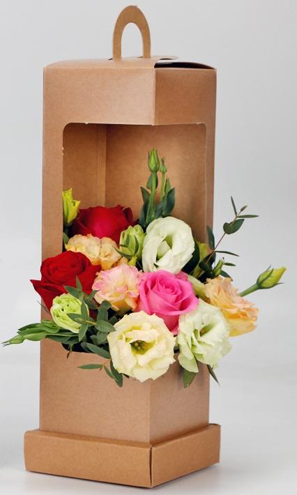 Купить картонные коробки для цветов