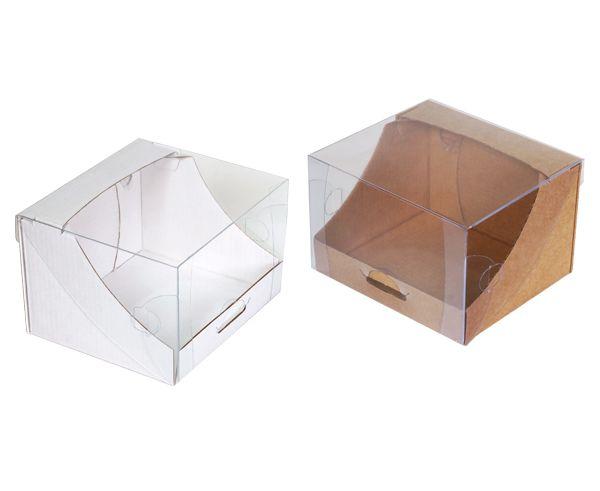Купить картонные коробки с прозрачной крышкой